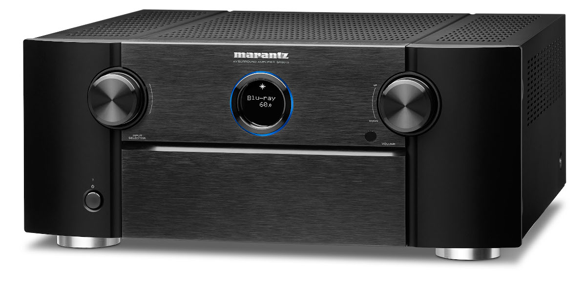 Marantz SR 8015 AV-Receiver 11.2 Kanal Full 8K Ultra HD mit Heos, AirPlay2, Alexa schwarz