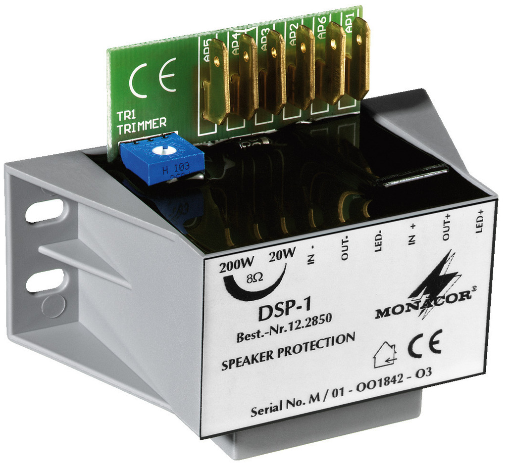 Monacor DSP 1 - Mono Lautsprecher-Schutzmodul