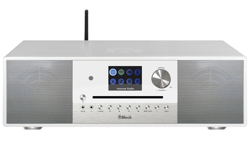 Block SR-100 Smart-Radio mit DAB+ Weiss
