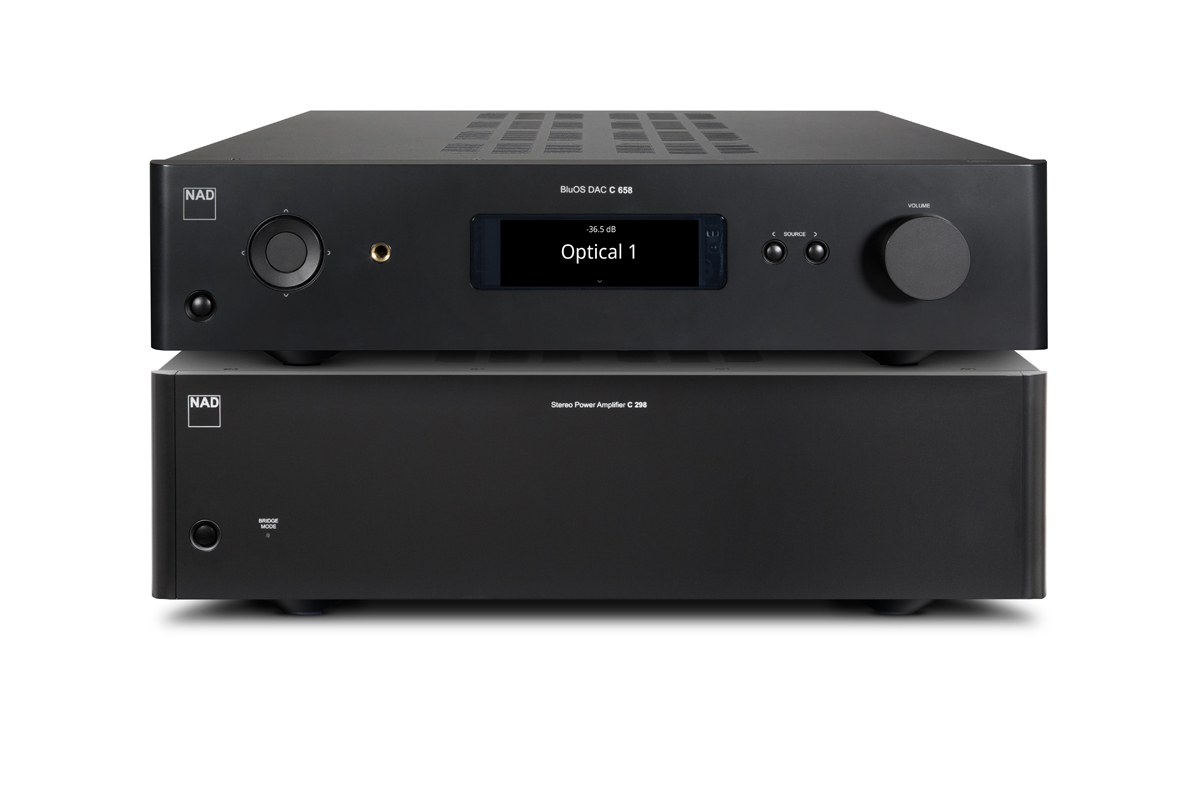 NAD Set C 298 Stereo Power Amplifier and C 658 BluOS Streaming DAC