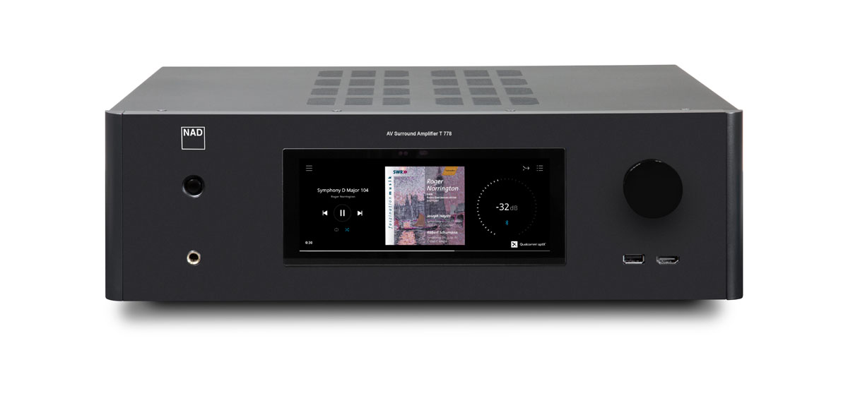 NAD T 778 HD AV-Receiver 7.2.4 mit BlueOS, graphit