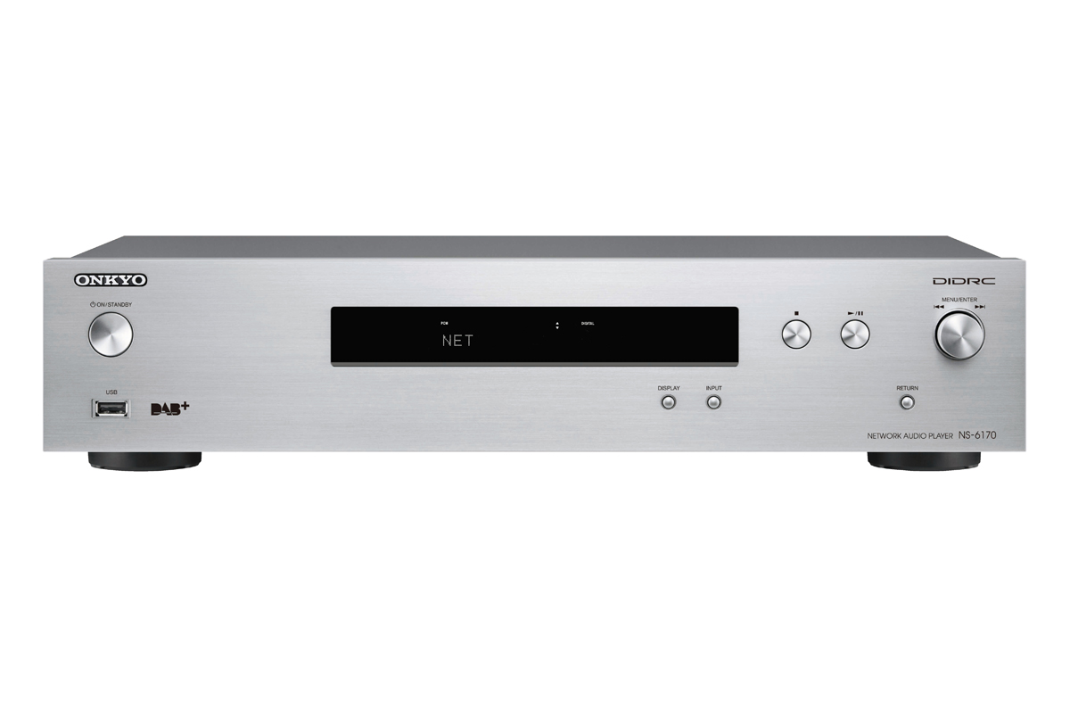 Onkyo NS-6170 HiRes Netzwerk-Audio-Player silver