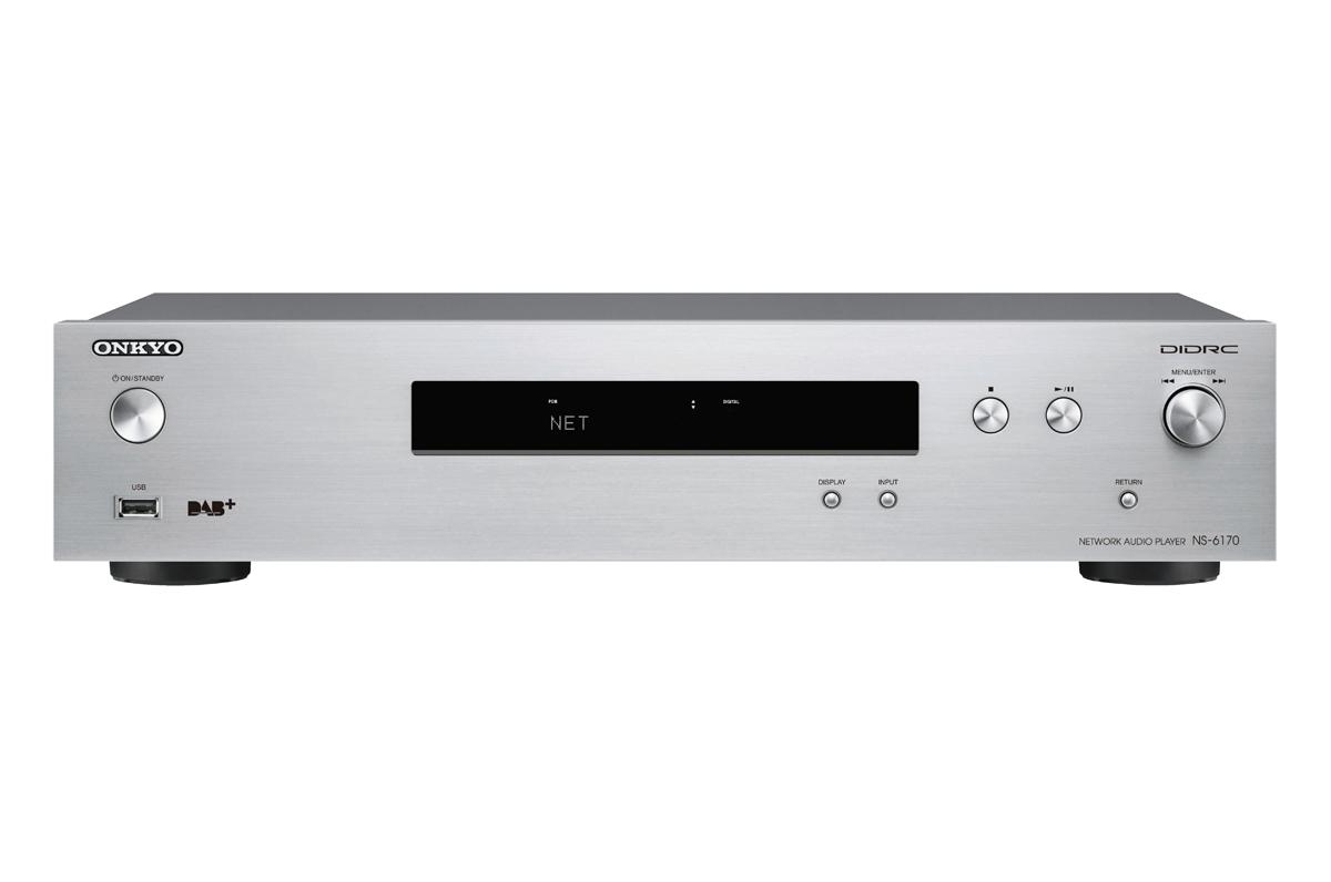 Onkyo NS-6170 HiRes Netzwerk-Audio-Player silber