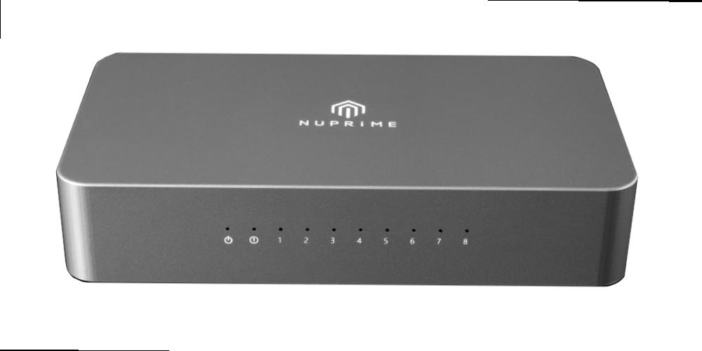 Nuprime Omnia SW-8 is a high-end 8-port gigabit Ethernet Network Switch