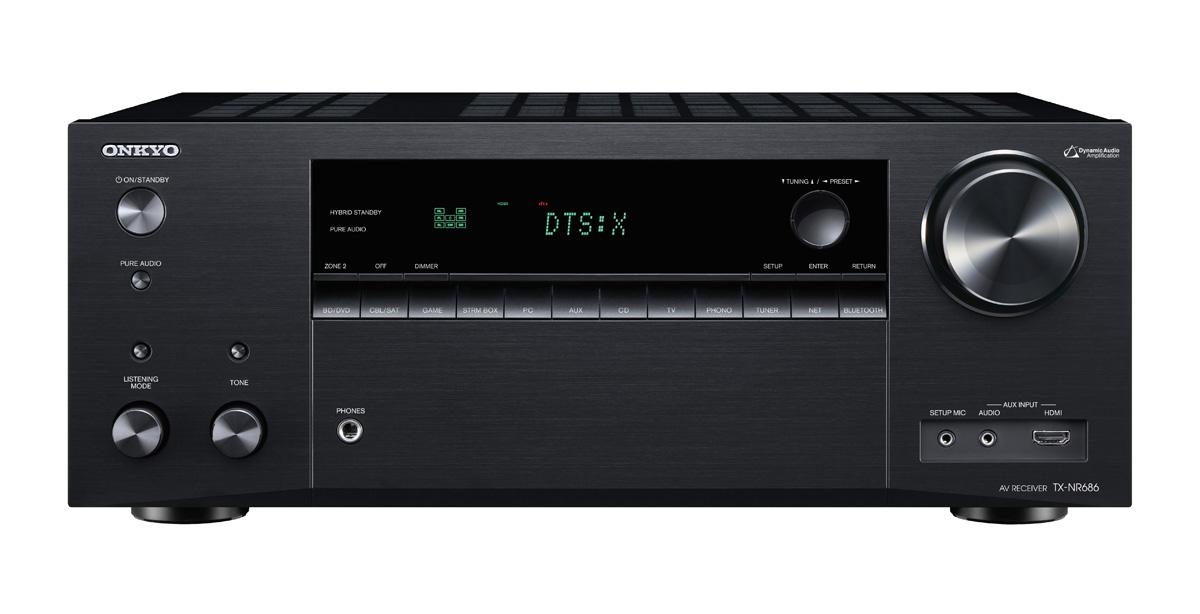 Onkyo TX-NR686E Netzwerk 7.2-Kanal-AV-Receiver