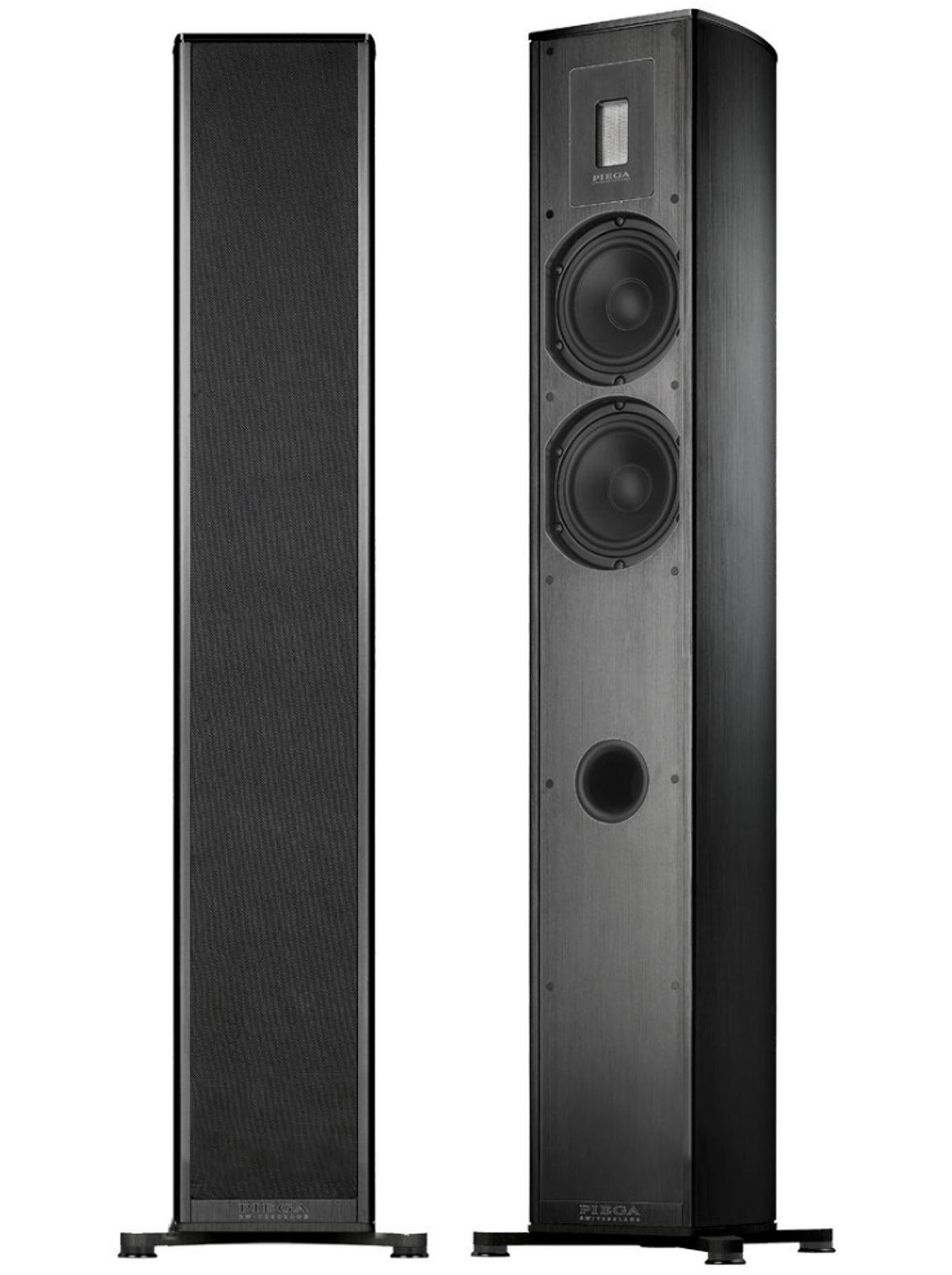 Piega Premium 701 Stand-Lautsprecher schwarz, Stoff schwarz