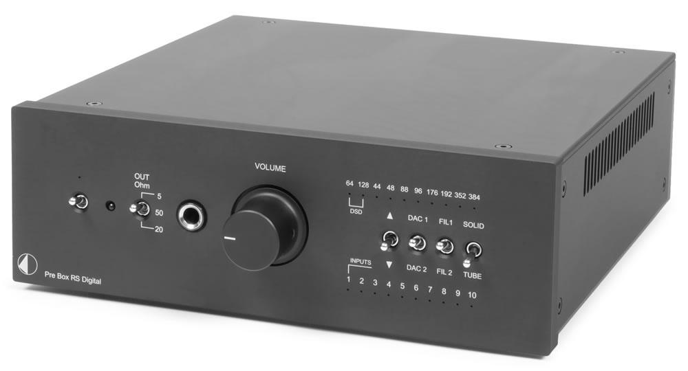 Pro-Ject Pre Box RS Digital Vorverstärker Schwarz