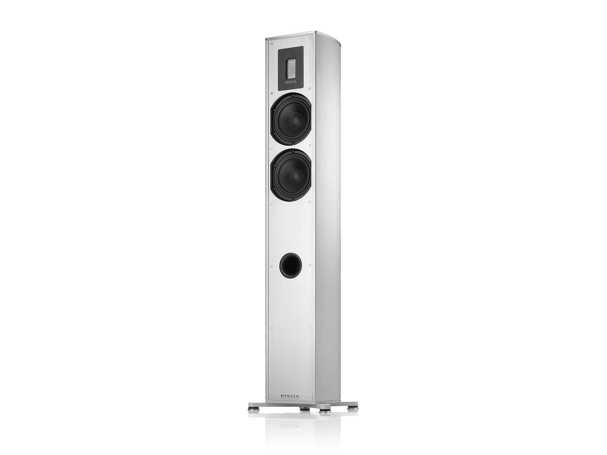 Piega Premium 701 Stand-Lautsprecher Alu, Stoff silber