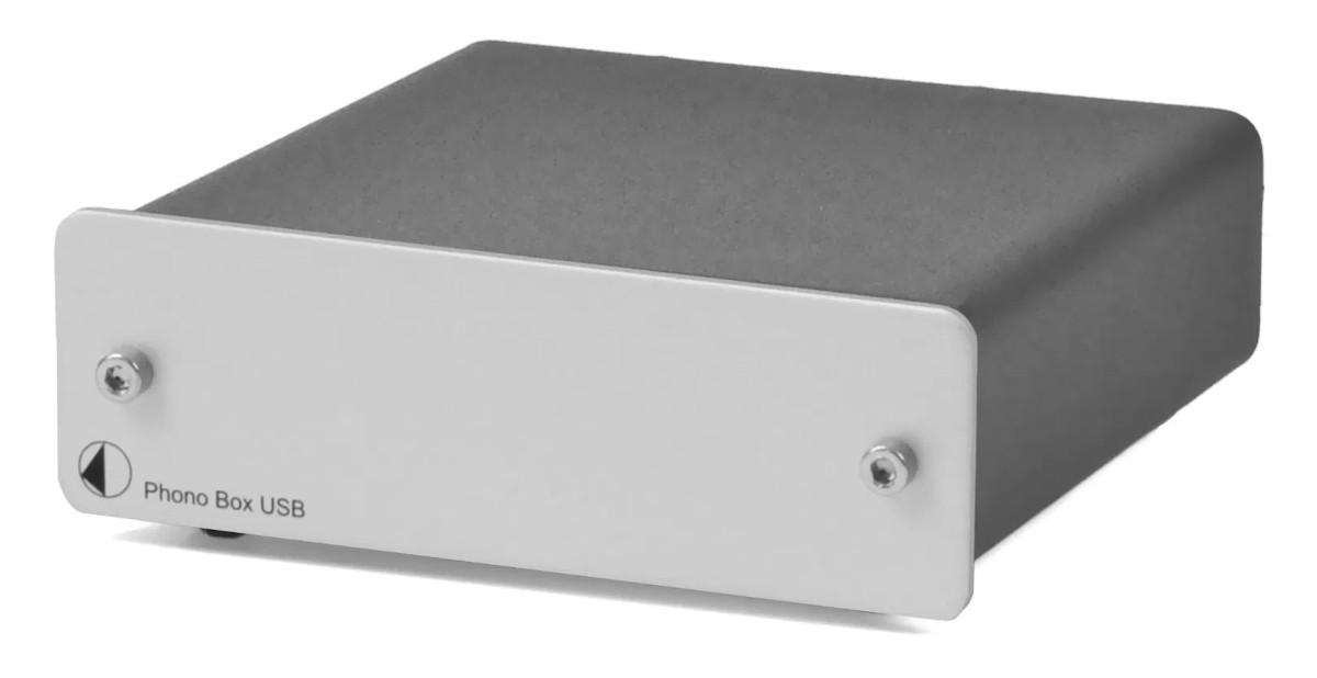 Pro-Ject Phono Box USB MM/MC Phono-Vorverstärker silber