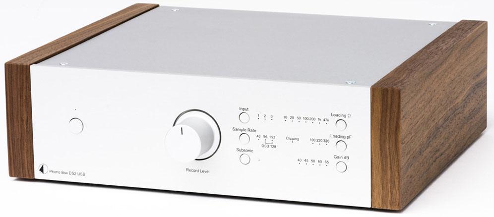 Pro-Ject Phono Box DS2 MM/MC USB preamplifier silver - Walnut
