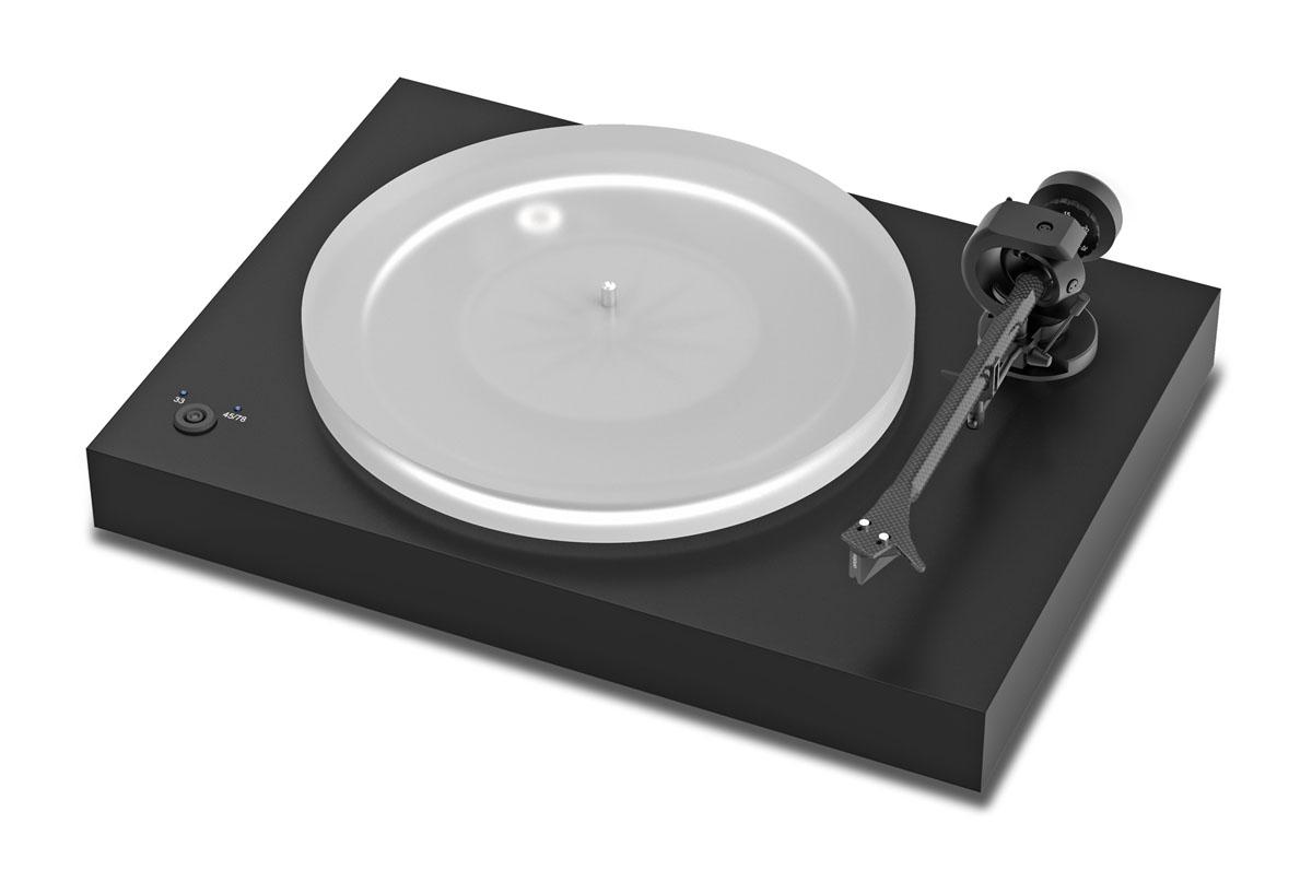 Pro-Ject X2 Plattenspieler mit Ortofon 2M Silver Tonabnehmer schwarz matt