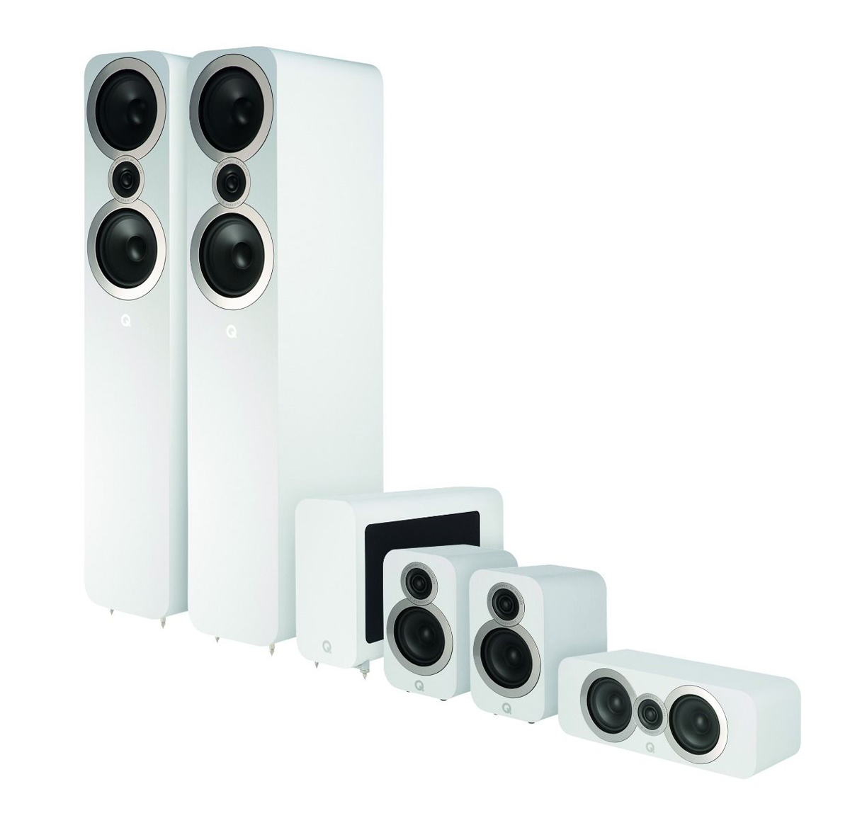 Q-Acoustics 3050i Cinema Pack 5.1 incl. Aktiv-Subwoofer 3060s white