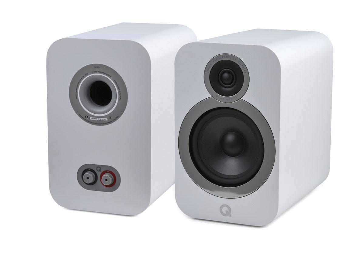 Q-Acoustics 3030i Compact Bookshelf Speaker, white (checked return)
