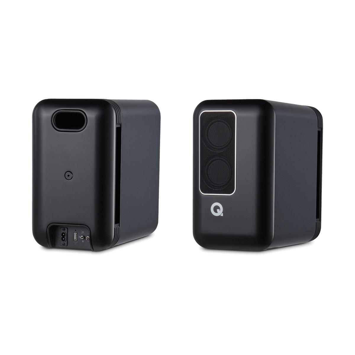 Q-Acoustics Q Active 200 Kompakt-Lautsprecher Paar, incl. Active Steuereinheit, Google Chromecast Version, ohne Ständer