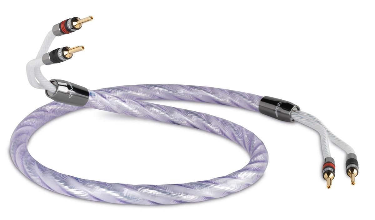 QED Signature Genesis SILVER Spiral Lautsprecherkabel 2x2,0m mit QED AIRLOC METALL 2 x 3,0 mtr.