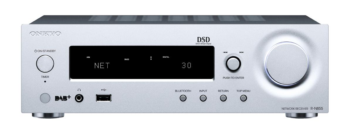 Onkyo R-N855 Netzwerk Stereo Receiver silver