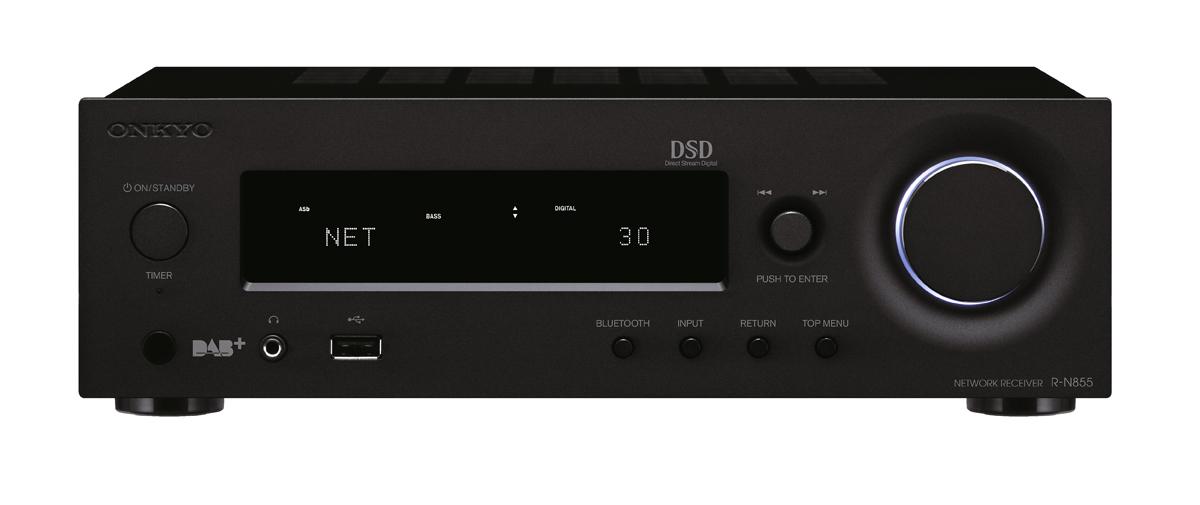 Onkyo R-N855 Netzwerk Stereo Receiver schwarz