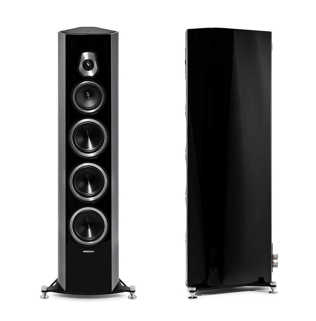Sonus Faber Sonetto VIII Stand-Lautsprecher schwarz hochglanz