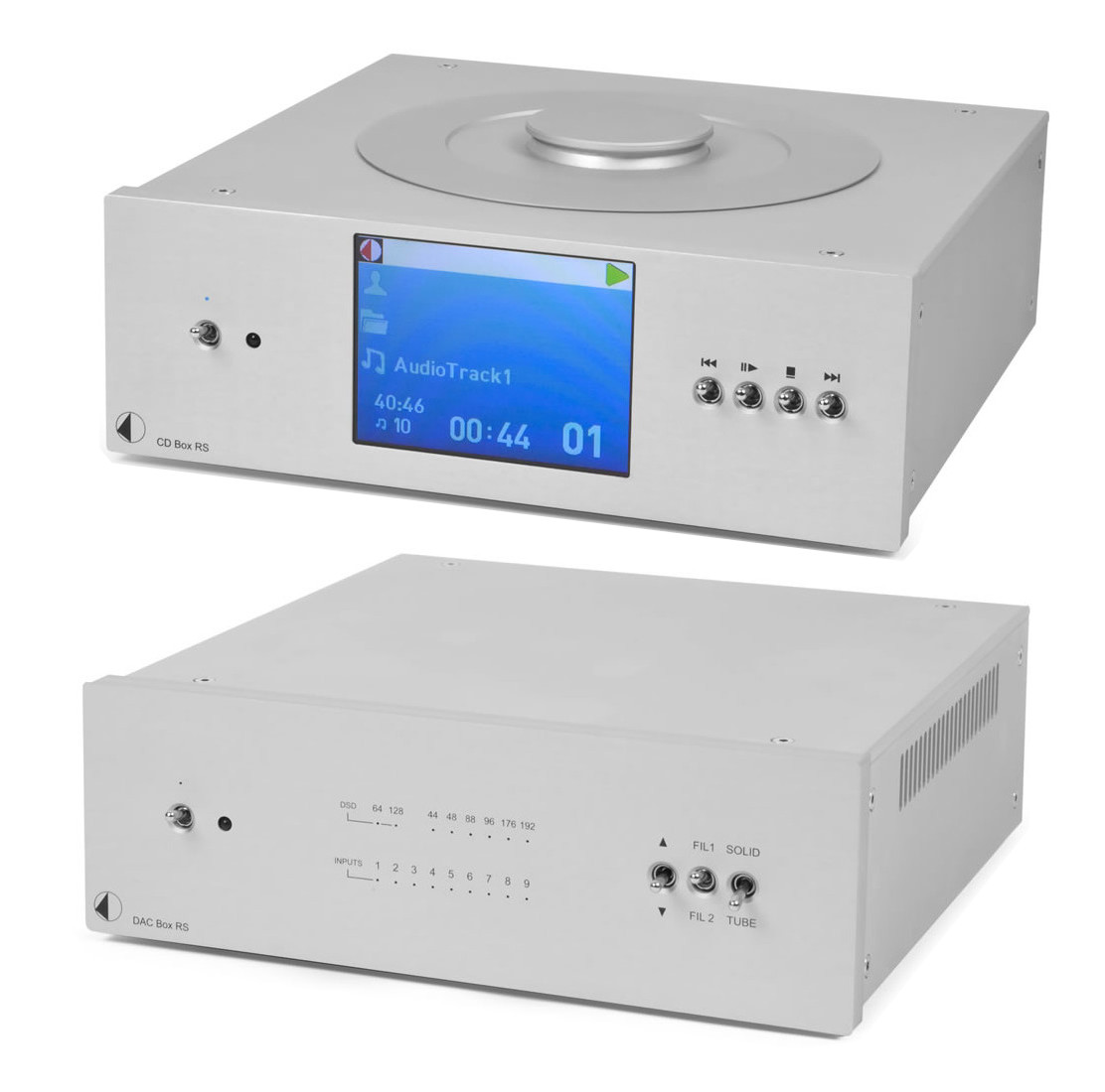 Pro-Ject CD Box + DAC Box RS Superpack silber