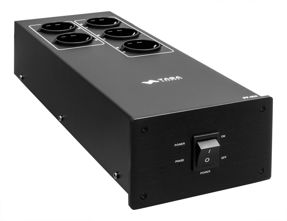 Taga PF-500 High End Netzleiste 5-fach (3 mit Filter), schwarz