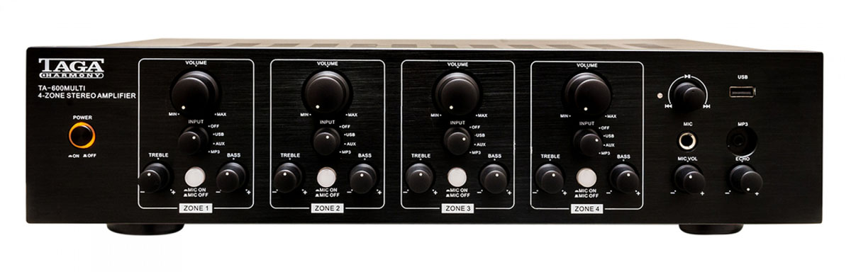 Taga TA-600MULTI Stereo Vollverstärker, schwarz