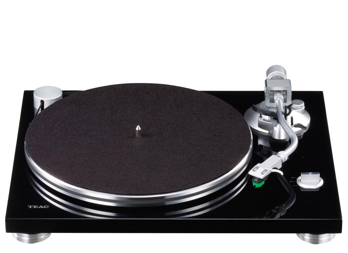 Teac TN-3B Plattenspieler mit Audio Technica AT VM95E, Phono MM und USB Ausgang schwarz