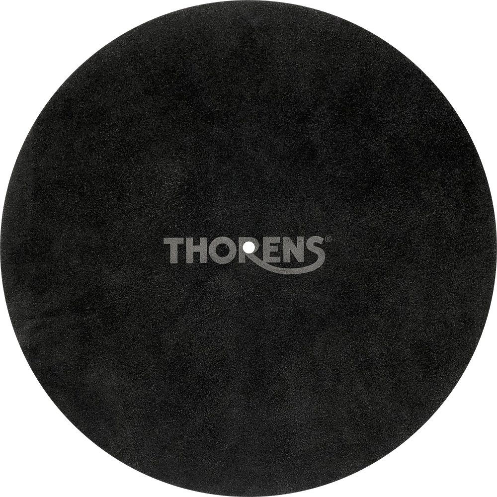 Thorens Platter mat leather black