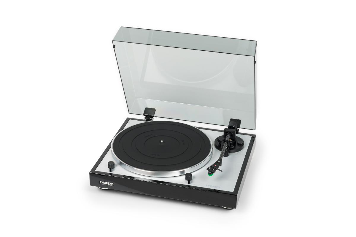 Thorens TD 402 DD Plattenspieler mit MM Tonabnehmer und Phono Vorstufe