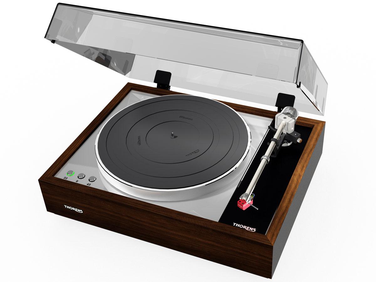 Thorens TD 1600 Plattenspieler ohne Tonabnehmer hochglanz Walnuss