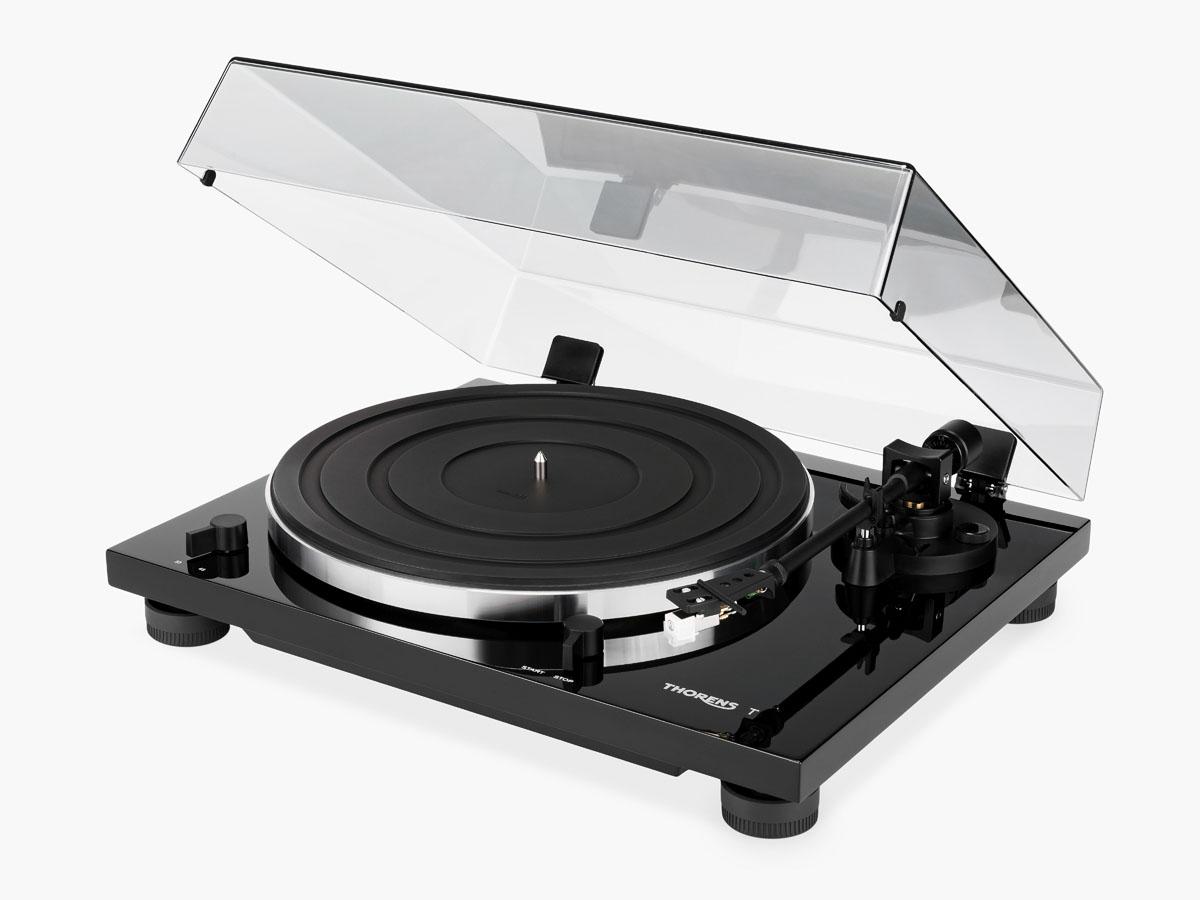 Thorens TD 201 Plattenspieler mit MM Phono Vorstufe, hochglanz schwarz (Demomodel)