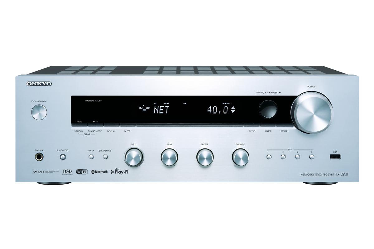 Onkyo TX-8250 Netzwerk Stereo Receiver silber