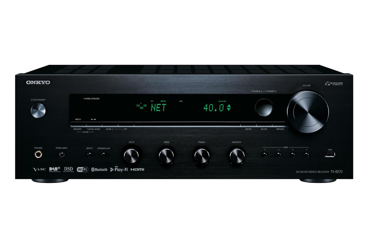 Onkyo TX-8270 Netzwerk Stereo Receiver schwarz