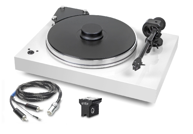 Pro-Ject Xtension 9 Evolution Superpack mit Ortofon MC Quintett Black hochglanz weiss