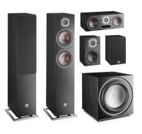 Dali Oberon 5.1 Home Cinema Set - 2 x Oberon 7 + 2 x Oberon 1 + 1 x Oberon Vokal + 1 x SUB E-12-F Ash black