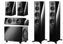 Dynaudio Heimkino Set 5.1 Evoke 50, Evoke 25C, Evoke 20 und SUB 6 hochglanz schwarz