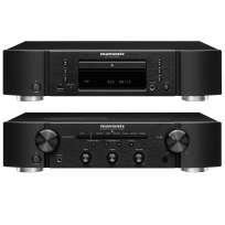 Marantz Set PM 6007 Vollverstärker mit Phono und DA-Wandler und CD 6007 CD Player schwarz
