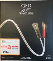 QED Performance XT25 Speaker-Cable 2,5 MM, Pre-Terminated with Bananas Forte 2 X 3 MTR.