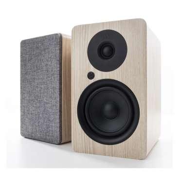 Argon Audio Alto A 5 Aktiv Regal-Lautsprecher mit Bluetooth Paar Eiche