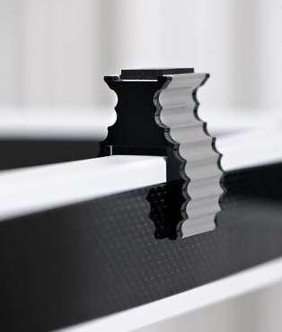 Solid Tech Gerätehalterung für Rack of Silence 4er Set alu/ weiss