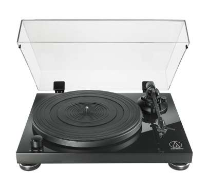 Audio Technica AT LPW50 PB Plattenspieler mit MM-System und Phono-Vorverstärker, schwarz
