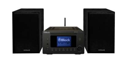 Block MHF-900 Mini-Anlage CD, Internet,DAB+/USB mit Lautsprecher, schwarz