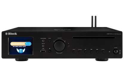 Block CVR-10 CD-Internet-Receiver/Streamer with Bluetooth and W-LAN