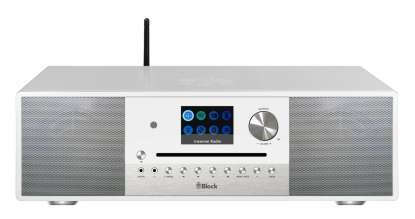 Block SR-200 Smart-Radio mit DAB+ und integrierten Subwoofer weiß