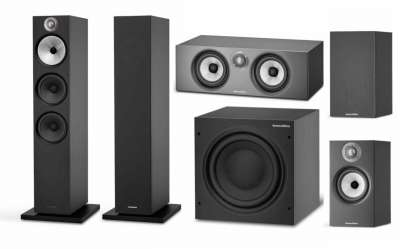 Bowers & Wilkins 603 S2 5.1 Home Cinema Set - 2 x 603 S2, 2 x 607 S2, 1 x HTM 6 S2 and 1 x ASW 610
