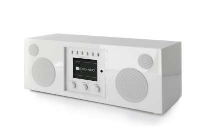 Como Audio Duetto DAB+ Radio mit Bluetooth, WiFi, Spotify und FB Hochglanz weiss