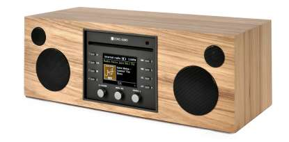 Como Audio Musica CD-Player, DAB+ mit Bluetooth, WiFi, Spotify und FB Hickory