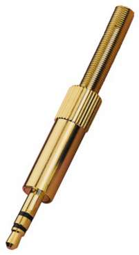 Monacor Klinkenstecker 3.5 MM Stereo PG-303, Gold