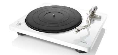 Denon DP-400 Plattenspieler mit integr. MM/MC Phonovorverstärker weiss