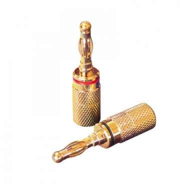 Dynavox X-4003 Bananenstecker 4 mm² vergoldet, 4er Set