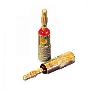 Dynavox X-4005 Bananenstecker 6 mm² vergoldet, 4er Set